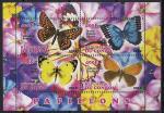 Конго 2012 год. Бабочки. 1 малый лист