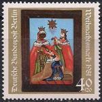 Берлин (ФРГ) 1981 год. Рождество. 1 марка