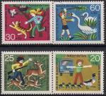 ФРГ 1972 год. Детская серия. Охрана животных. 4 марки