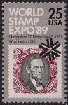 США 1989 год. Интернациональная филвыставка в Вашингтоне. 1 марка
