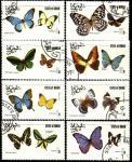 Оман (штат ОАЭ) 1977 год. Бабочки. 8 гашеных марок