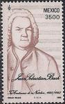 Мексика 1985 год. 300 лет со дня рождения Йохана Себастьяна Баха. 1 марка