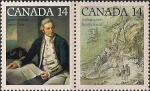 Канада 1978 год. 250 лет со дня рождения Д. Кука. 2 марки