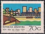 Аргентина 1974 год. 100 лет городу Мар-дель-Плата. 1 марка