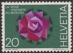 Швейцария 1971 год. Филвыставка в Базеле. Роза. 1 марка из серии (ном. 20)