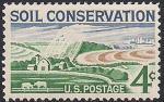 США 1959 год. Сохранение плодородных земель. 1 марка