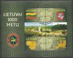 Литва 2001 год. 1000 лет Литовской государственности, гашеный блок