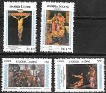 Сьерра Леоне 1985 год. Пасхальные сюжеты в искусстве, 4 марки