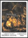 Сьерра Леоне 1989 год. Рождество.  Рембрандт, блок