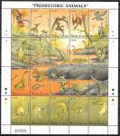 Сьерра Леоне 1992 год. Доисторические животные, малый лист