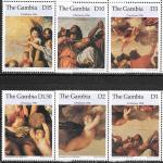 Гамбия 1996 год. Рождество в картинах художников, 6 марок