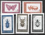 Болгария 1968 год. Насекомые, 5 марок. (н