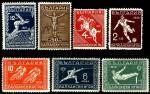 Болгария 1931 год. Балканские игры в Афинах. 6 марок с наклейкой