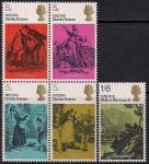 Великобритания 1970 год. 100 лет со дня смерти Ч. Диккенса. 5 марок