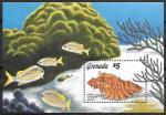 Гренада 1986 год. Морские раковины, блок