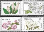 Гренада 1984 год. Цветы, 4 марки