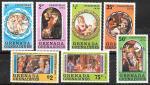 Гренада Гренадины 1976 год. Рождество, живопись, 7 марок