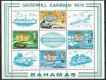 Багамские острова 1970 год. Туризм, блок