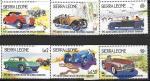 Сьерра-Леоне 1984 год. Ретро автомобили, 6 марок