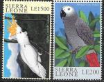 Сьерра-Леоне 2000 год. Попугаи, 2 марки