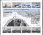 Сьерра-Леоне 1995 год. Годовщина окончания ВМВ. Военные корабли, малый лист