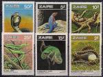 Конго (Заир) 1987 год. Змеи. 6 марок