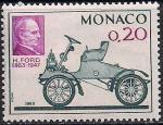 """Монако 1963 год. 100 лет со дня рождения Генри Форда. Модель автомобиля """"Форд А"""". 1 марка"""
