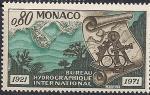 Монако 1971 год. 50 лет создания Международного управления гидрографии. 1 марка