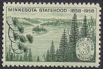 США 1958 год. 100 лет штату Минесота. 1 марка