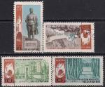 КНДР 1969 год. Мемориальные памятники героям сражения при Почхонбо. Памятник Ким Ир Сену. 4 гашёные марки