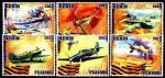 Бенин 2013 год. Самолеты. 6 марок