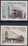 Сан-Марино 1979 год. Европа. Почтовые дилижансы. 2 марки (н)