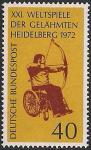 ФРГ 1972 год. Международные соревнования среди инвалидов-колясочников в Гейдельберге. 1 марка
