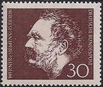 ФРГ 1966 год. 150 лет со дня рождения инженера и учёного В. Сименса. 1 марка
