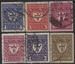 Германия. Рейх 1922 год. Коммерческая выставка в Мюнхене. 6 гашёных марок