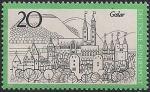 ФРГ 1971 год. Город Гослар. Площадь Кайзера и Гарцкие горы. 1 марка