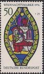 ФРГ 1976 год. Рождество. Готическое изображение девы Марии. 1 марка