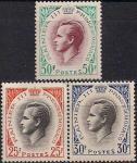Монако 1959 год. Принц Ренье Третий. 3 марки