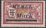 Германия Рейх (Мемель) 1922 год. НДП нового номинала (2 марки) на марке с номиналом 1 франк. 1 марка с наклейкой из серии