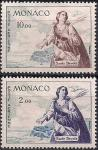 Монако 1960 год. Святая дева Мария. 2 марки