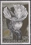 Югославия 1970 год. 25 лет ООН. Символ - голубь на руке. 1 марка