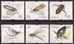 Польша 1999 год. Жуки и стрекозы (281.3780). 6 марок