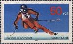 ФРГ 1978 год. Скоростной спуск на лыжах. 1 марка