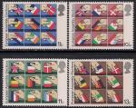Великобритания 1979 год. Утверждение первого Европейского Парламента. 4 марки