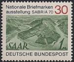 """ФРГ 1970 год. Национальная филвыставка """"SABRIA-70"""". Земля Саар. 1 марка"""
