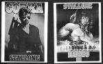 2 карточки Сильвестр Сталоне, Кобра, Рембо 3