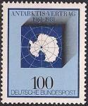 ФРГ 1981 год. 20 лет договору об Антарктике. 1 марка