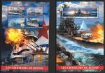 Кот дИвуар 2017 год. Крейсеры России, блок и малый лист