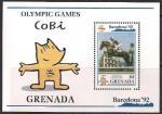 Гренада 1990 год. Летние Олимпийские игры в Барселоне (106.2149). Блок