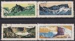 КНДР 1970 год. Ландшафт в районе горы Паекту. 4 гашёные марки